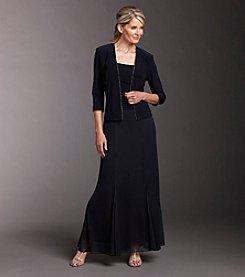 Alex Evenings® 2-pc. Embellished Layered-look Dress & Jacket Set - Navy