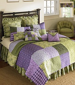 Vineyard Square Patchwork Quilt Bedding Collection by Donna Sharp®