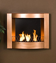 Holly & Martin™ Hallston Wall Mount Fireplace - Copper