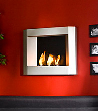 Holly & Martin™ Hallston Wall Mount Fireplace - Silver