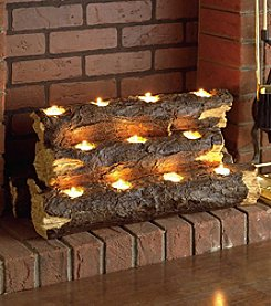 Southern Enterprises Sierra Tealight Fireplace Log