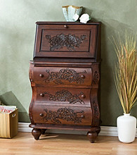 Holly & Martin™ Logan Walnut Front File Desk