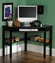 Holly & Martin™ Alexander Black Corner Desk