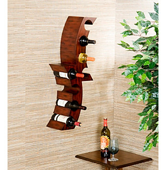 Product Southern Enterprises Calabria Wall Mount Wine Rack from carsons.com