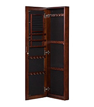 Holly & Martin™ Sophia Wall-Mount Jewelry Mirror - Warm Brown Walnut
