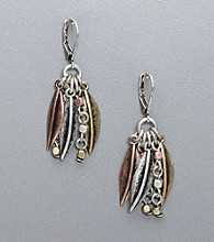 Nine West Vintage America Collection® Leaf Cluster Earrings - Tri-Tone