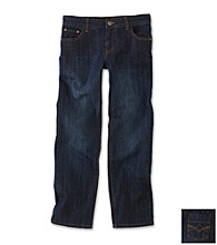 DKNY® Boys' 2T-20 Dark Wash Straight Leg Jeans