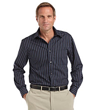 Kenneth Roberts Platinum® Men's Ribbon Stripe Shirt - Midnight Navy