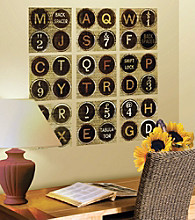 Lot 26 Studio® Typewriter Keys Wall Decals