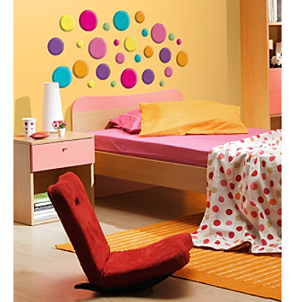 Lot 26 Studio® Glitter Puff Izzy Dots Wall Decals