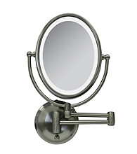 Zadro Round LED Lighted Wall Mirror