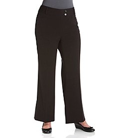 Rafaella® Plus Size Gabardine Curvy Fit Straight Leg Pants