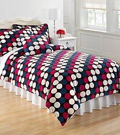 Dot Chocolate Kids' Micro Plush Mini Comforter Set by Cozy.Fresh.Fun