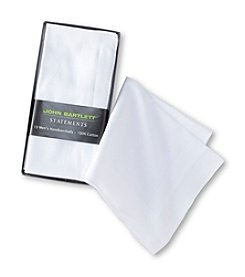 John Bartlett Statements Men's 13-Pack Cotton Handkerchiefs - White