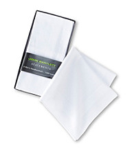 John Bartlett Statements Men's 6-Pack Cotton Handkerchiefs - White