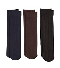 Relativity® Ladies' Trouser Socks Multi-Color 3 Pair Pack
