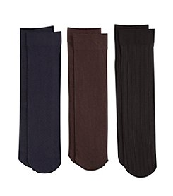Relativity® 3-Pack Solid Trouser Socks