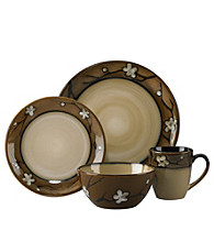 Pfaltzgraff® Everyday Flora Gold 16-pc. Dinnerware Set