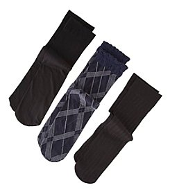 Relativity® Argyle Trouser Socks 3-Pack