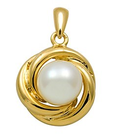 18k Gold-Over-Sterling Silver and Pearl Pendant