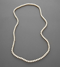 Freshwater Pearl Endless Necklace - White