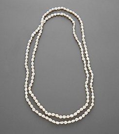 Baroque Freshwater Pearl Endless Necklace - White