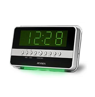 Jensen Wave Sensor AM/FM Dual Alarm Clock Radio