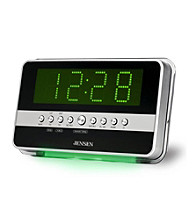 Jensen Wave Sensor AM/FM Dual Alarm Clock Radio