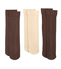 Relativity® 3-Pack Ribbed Trouser Socks