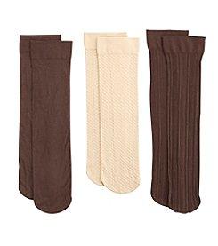 Relativity® 3-Pack Ribbed Trouser Socks