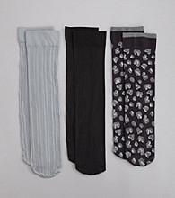 Relativity® Leopard 3-Pack Trouser Socks