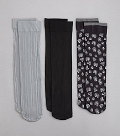 Relativity® Leopard Trouser Socks 3-Pack