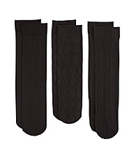 Relativity® Argyle 3-Pack Trouser Socks
