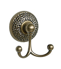Elegant Home Fashions® Sonoma Towel Double Hook - Antique Brass