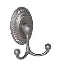 Elegant Home Fashions® Stanley Towel Double Hook - Brushed Satin Nickel