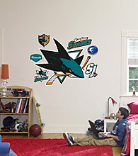 NHL® San Jose Sharks Stick-on Wall Graphic