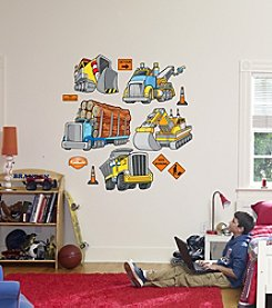 Heavy Trucks and Construction Equipment Stick-on Wall Graphics by Fathead®