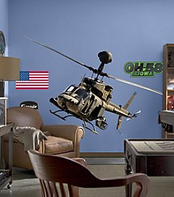 Fathead OH-58 Kiowa Warrior Stick-on Wall Graphics