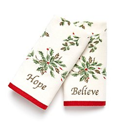 Lenox® Hope & Believe 2-pk. Fingertip Towels
