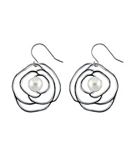 .925 Sterling Silver Freshwater Pearl Earrings