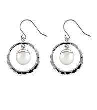 .925 Sterling Silver Freshwater Pearl Drop Earrings