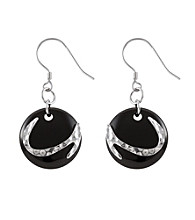 .925 Sterling Silver & Onyx Earrings