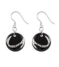 .925 Sterling Silver & Onyx Earrings