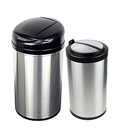 Nine Stars Infrared Touchless Automatic 10.6-gallon & 3-gallon Trash Can Set