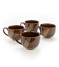 Sango Avanti Brown Set of 4 Mugs