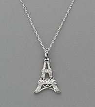 .10 ct. t.w. Genuine Diamond Eiffel Tower Pendant