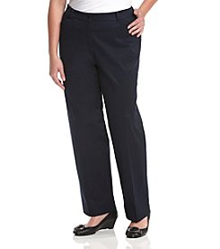 Jones New York Signature® Plus Size Refined Twill Cotton Pants