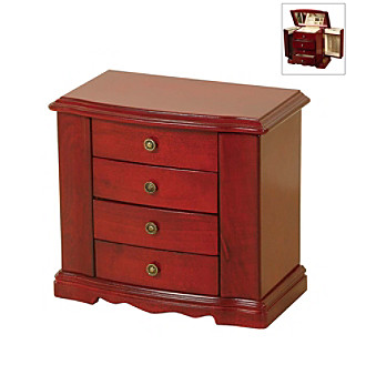"Mele & Co. ""Harmony"" Jewelry Box - Cherry"