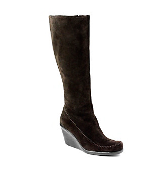 aerosoles 174 quot gather knee high wedge boots dealtrend