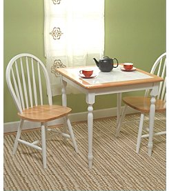 TMS 3-Pc. Natural White Tile Table Top Dining Collection